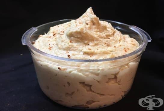 Хумус с кашу и ленено семе - изображение