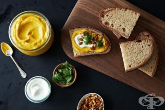 Хумус от тиква с чесън - изображение