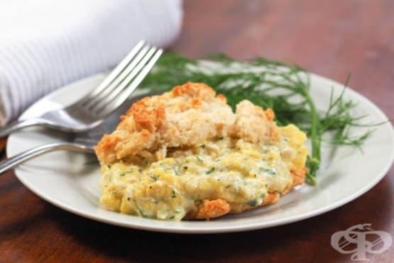 Бъркани яйца с моцарела в питки - изображение