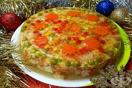 Желирано новогодишно предястие от месо - изображение