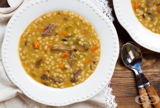 Житена супа с гъби и свинско месо - изображение