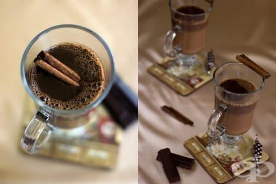 Карамелен горещ шоколад с канела - изображение