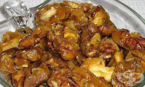 Карамелизирани орехи (с масло) - изображение