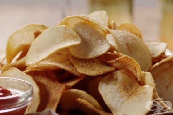 Класически пържен картофен чипс - изображение