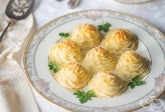 Картофени дукеси с масло и крема сирене - изображение