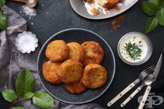 Картофени кюфтета с топяща се моцарела - изображение