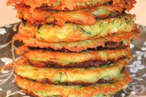 Картофени кюфтета с тиквички и оризови трици - изображение
