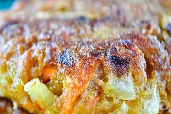 Кюфтета от сварени картофи с праз и меко сирене - изображение