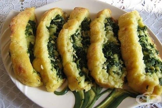 Картофено руло със спанак и яйца - изображение