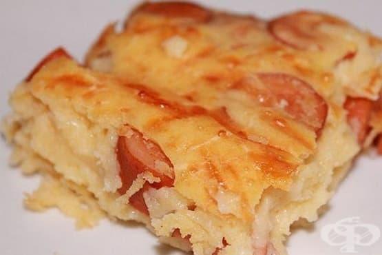 Кашкавалена питка с колбас и яйца - изображение