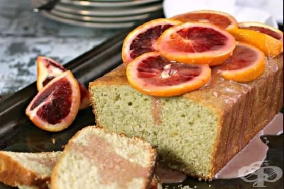 Портокалов кекс с кардамон и медено-цитрусова глазура - изображение