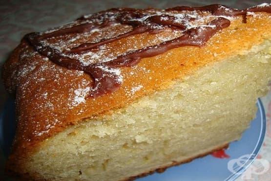Бърз кекс с извара и масло - изображение