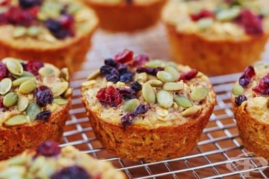 Лесни и здравословни кексчета с овесени ядки - изображение