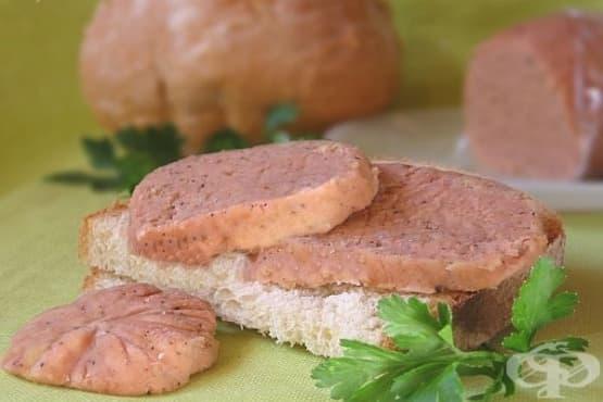 Вегетариански колбас от нахут - изображение