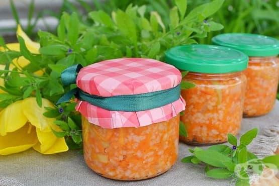Консерва от ориз със зеленчуци - изображение