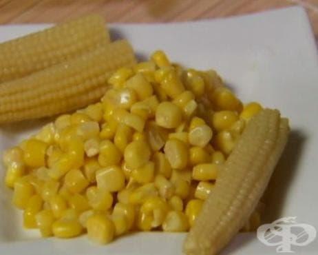 Домашна консервирана сладка царевица - изображение