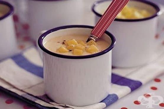 Карфиолена крем супа със сирене чедър - изображение