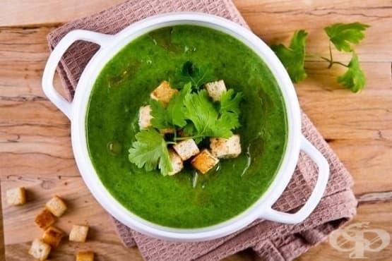 Крем-супа от коприва със сметана и картофи - изображение