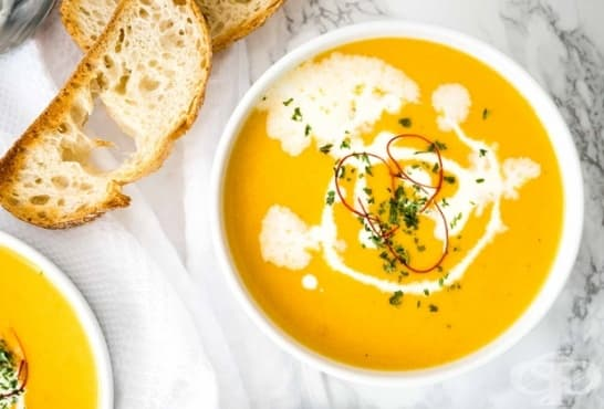 Крем супа от тиква с моркови и лимонов сок - изображение