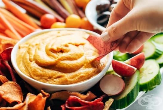 Хумус с къри - изображение