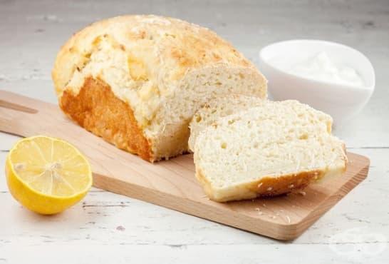 Лимоново хлебче с извара - изображение