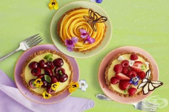 Лимонов тарт без печене - изображение