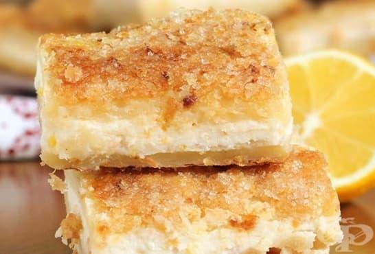 Бутер сладкиш с лимонов млечен крем - изображение