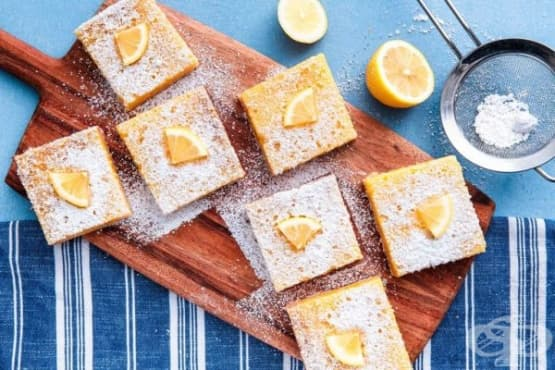 Лимонови пастички с маслен блат - изображение