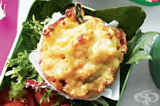 Макарони със сирене - мъфин - изображение