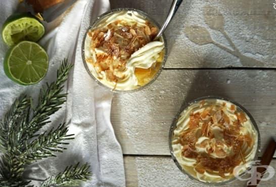 Маслени кремчета с цитрус, ананас и вафлени пурички - изображение