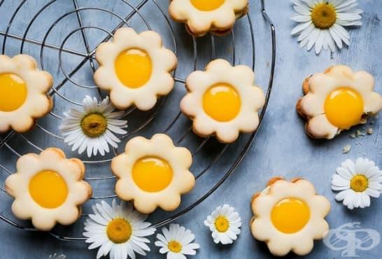 Медени бисквити с лимонов крем и глазура - изображение