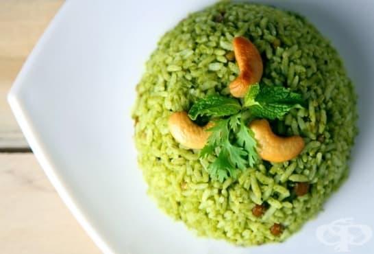 Ментов ориз с кориандър и кашу - изображение