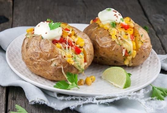 Пълнени печени картофи по мексикански - изображение