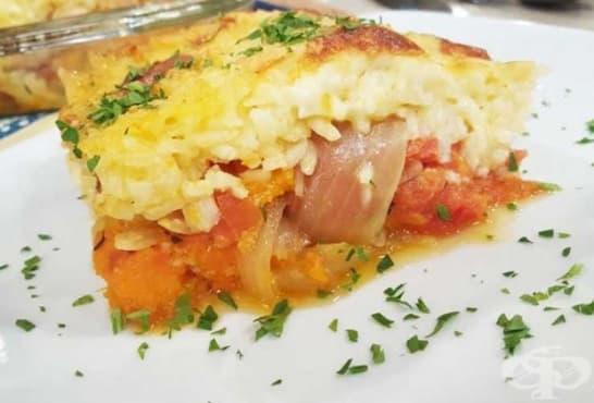 Мусака с ориз и зеленчуци - изображение