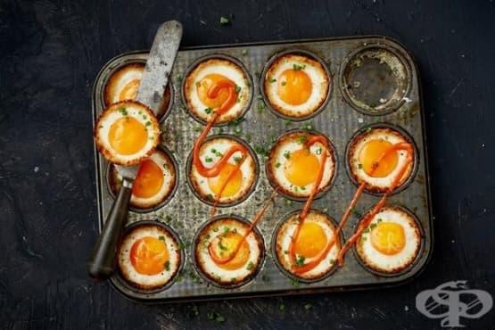 Мъфини от карфиол и яйца - изображение