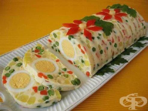 Новогодишна желирана салата - изображение