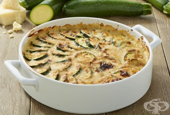 Огретен с тиквички и картофи - изображение