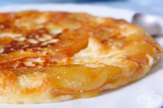 Омлет с извара и карамелизирани ябълки - изображение