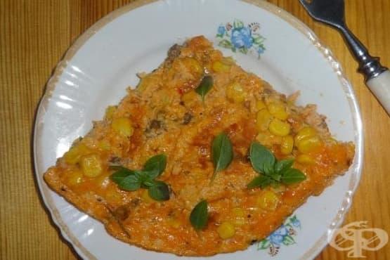 Омлет с царевица и сос болонезе - изображение
