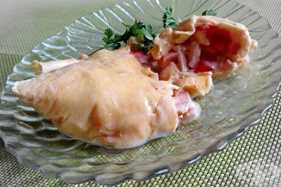 Омлет с шунка, домат и кашкавал (в пакет) - изображение