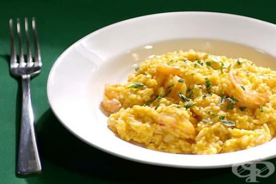 Ориз с масло, бяло вино и пармезан - изображение