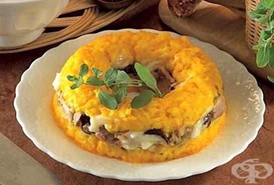 Оризов кекс с пилешко и моцарела - изображение