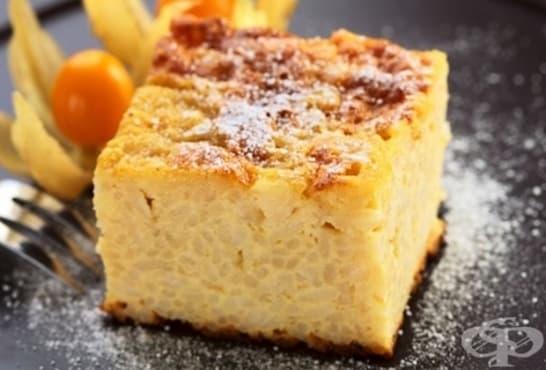 Оризов сладкиш с кокосово мляко и портокалови корички - изображение