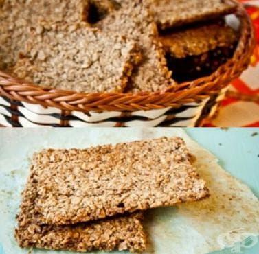 Хрупкави овесени крекери с орехи - изображение