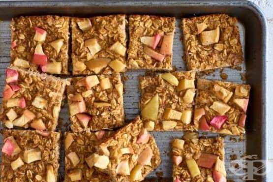 Здравословни барчета с овесени ядки и ябълки - изображение