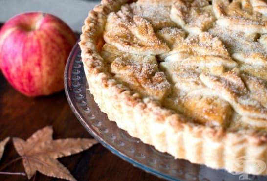Пай есенни листа с ябълки, орехи и карамел - изображение