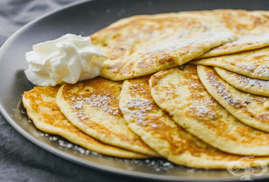 Палачинки без брашно с крема сирене - изображение