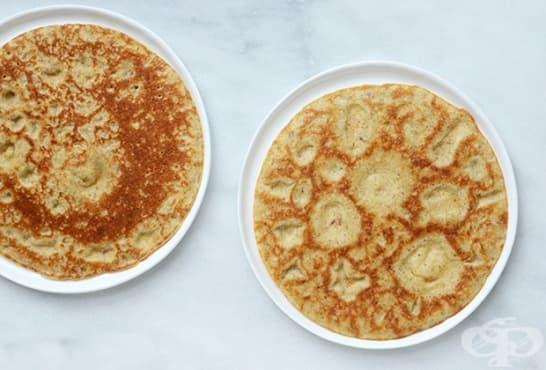 Палачинки с бадемово брашно и ленено семе - изображение