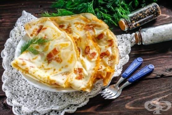 Палачинки с парченца бекон - изображение