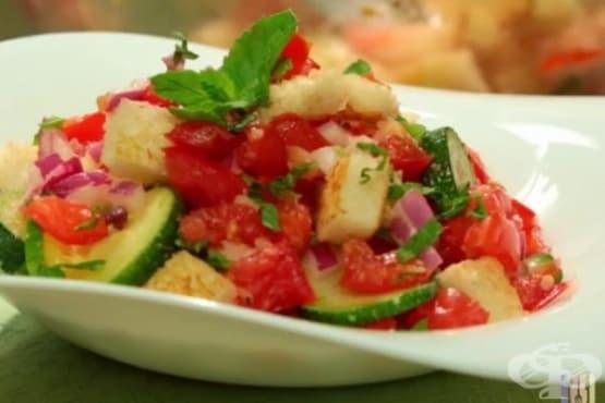 Панцанелла с тиквички и домати - изображение